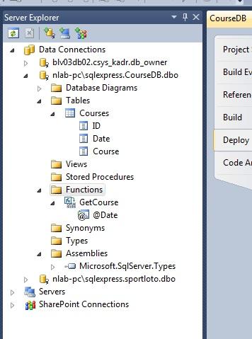 Готовый проект БД Visual Studio