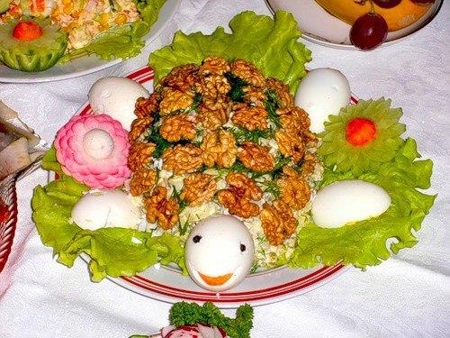 Красивые фото праздничных салатов и украшений блюд