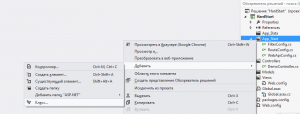 Настройка контроллера в проекте ASP.NET MVC Ext.Net